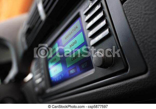 Cars multimedia system display. - csp5877597