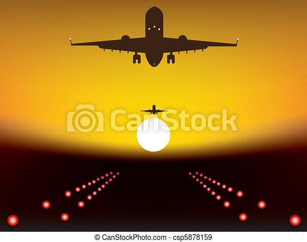 landing plane - csp5878159
