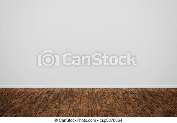 wooden floor - csp5878364