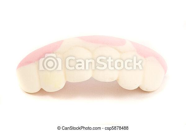 denture candy white background - csp5878488