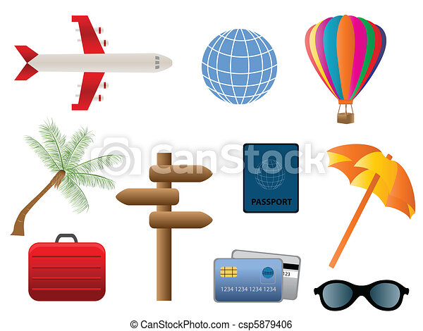 Travel and transportation icons - csp5879406