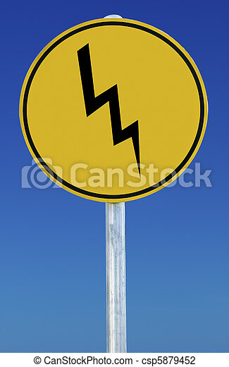 Lightning Bolt Sign - csp5879452