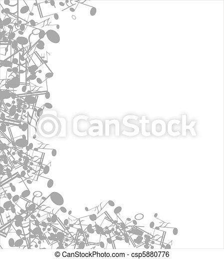 Musical  background - csp5880776