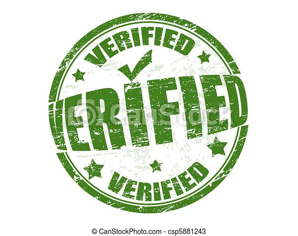 Verified stamp - csp5881243