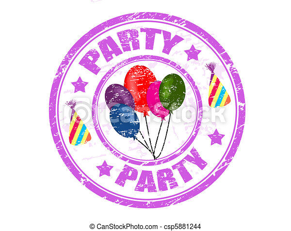 Party stamp - csp5881244