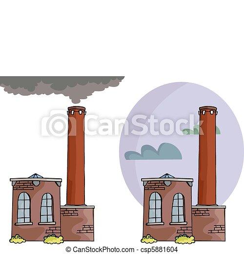 Power Plant Cartoon Cartoon of a Small Power Plant