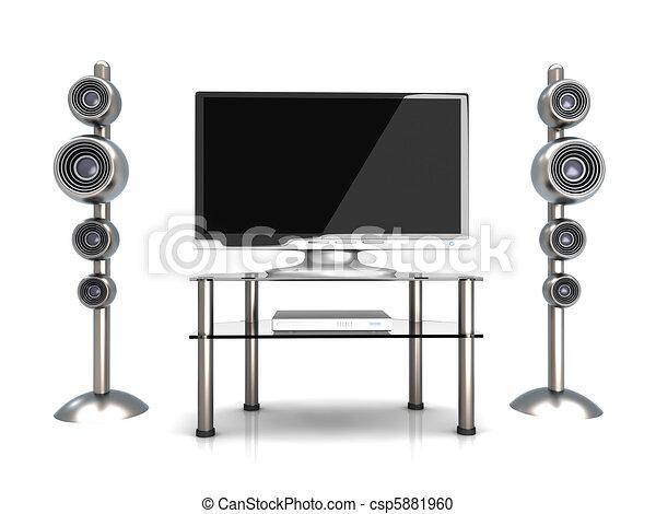 Home Entertainment System - csp5881960