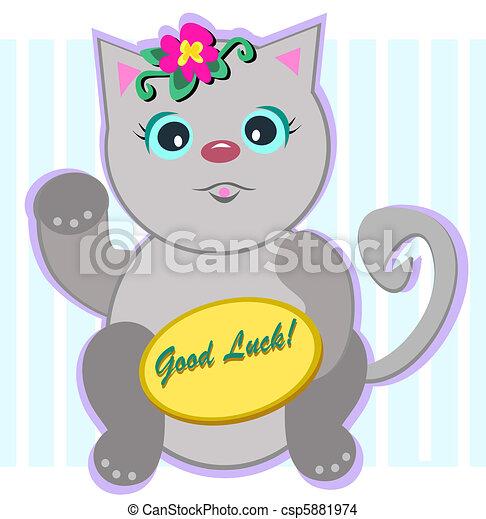 Good Luck Cat - csp5881974
