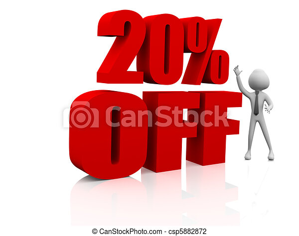 Sale promotion text 20 percent off - csp5882872