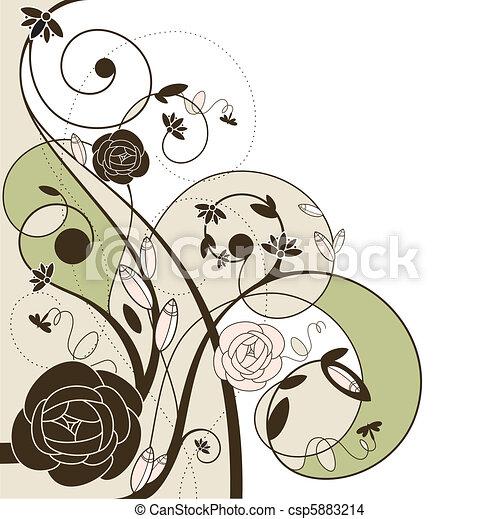 romantic wedding card - csp5883214
