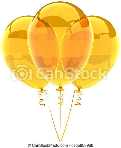 Yellow translucent balloons - csp5883968