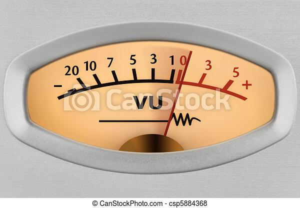 Level meter closeup - csp5884368