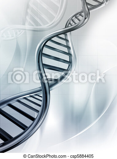 DNA Strands - csp5884405