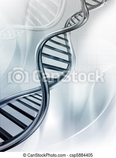 DNA Strands - csp5884405