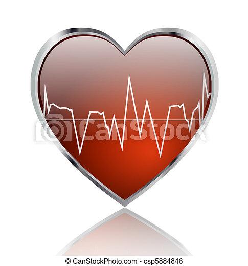 Heart beat - csp5884846