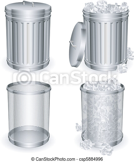 Trash cans. - csp5884996