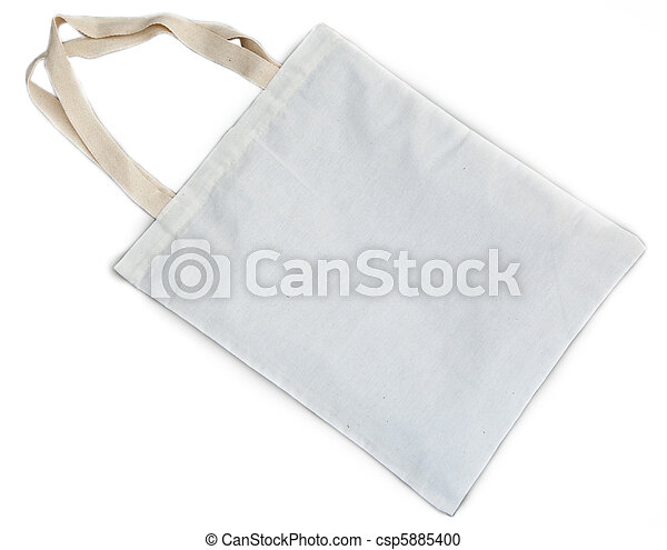white cotton bag - csp5885400
