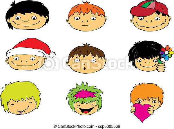 Expressions of boy's face - csp5885569