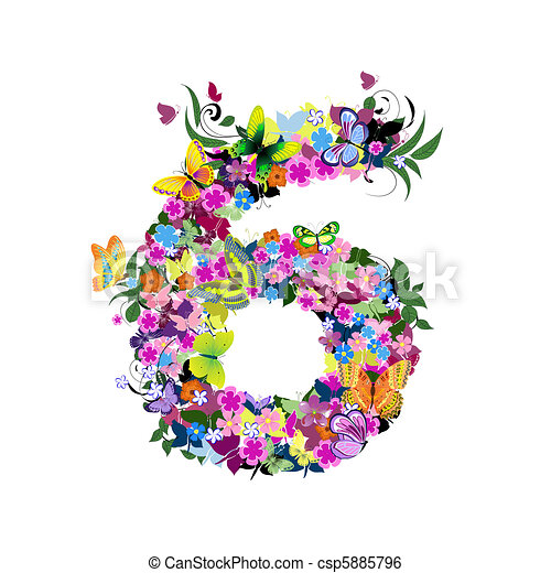 Number 6 Clipart Number 6 stock illustration