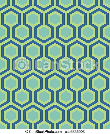 seamless teal hexagon pattern - csp5886908