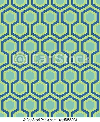 seamless teal hexagon pattern - csp5886908