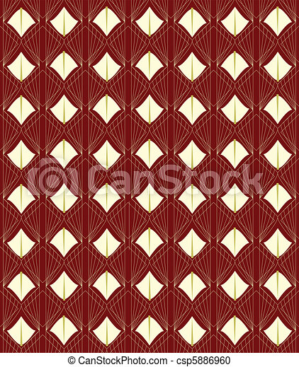 seamless deco pattern in rust - csp5886960