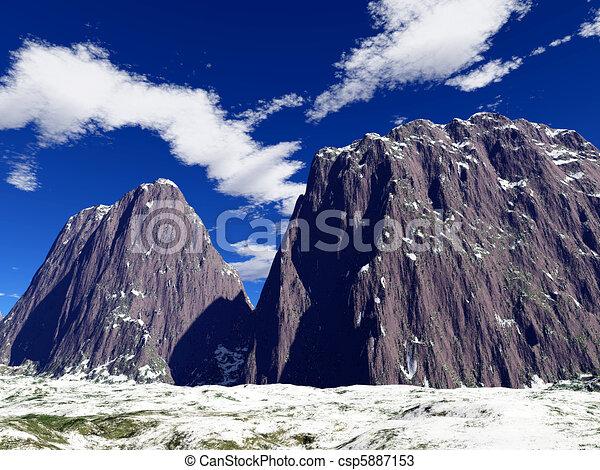 fantasia, coloridos, paisagem - csp5887153
