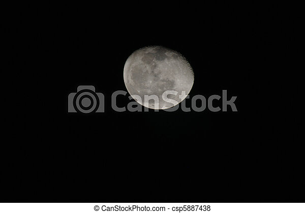 Full moon against black sky in Sharm el Sheikh - csp5887438