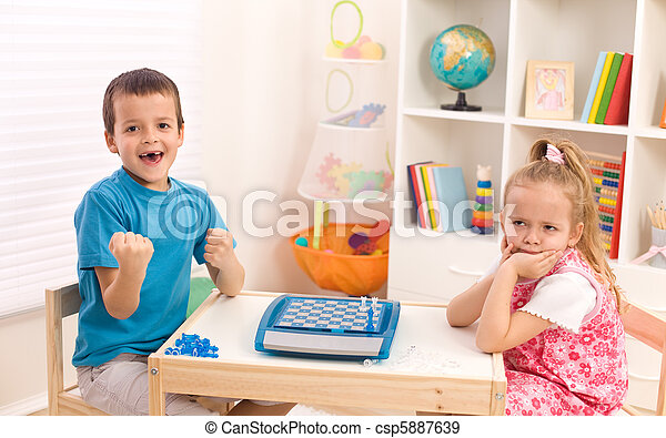 Childhood rivalry among siblings - csp5887639