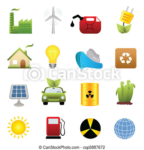 Clean energy icon set - csp5887672