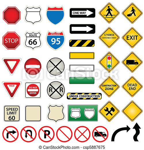Road and traffic signs - csp5887675