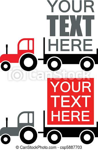 Tractor - vector advertisement back - csp5887703