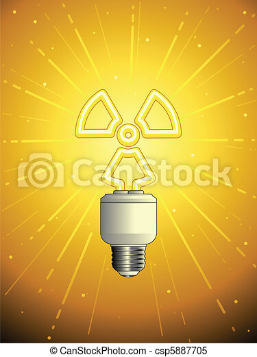 Atomic powered lightbulb - csp5887705