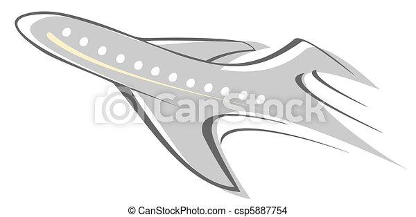 Dessin de avion voler avion ligne stylis vecteur - Dessin avion stylise ...
