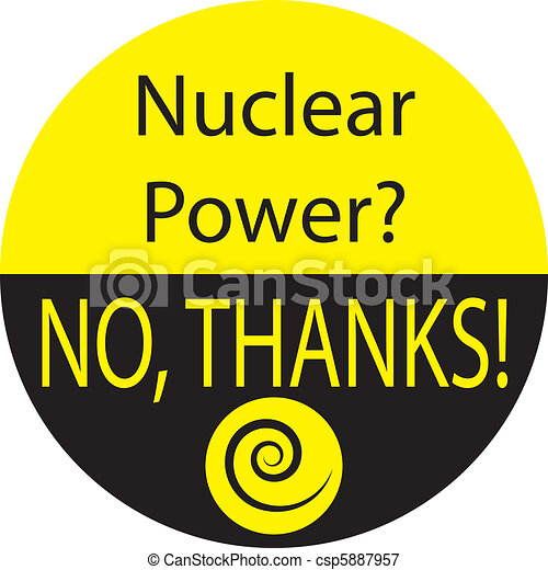 NUCLEAR POWER? NO, THANKS! - csp5887957