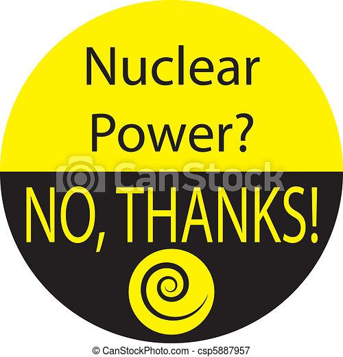 NUCLEAR POWER? NO, THANKS! - csp5887957