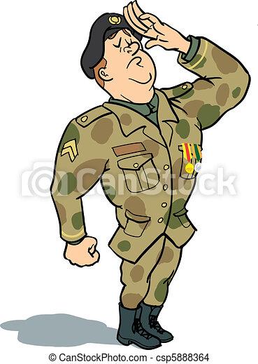 dessin de soldat  saluer arm u00e9e  soldat  dans  uniforme