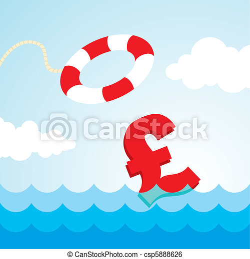 lifebuoy and a pound sign - csp5888626