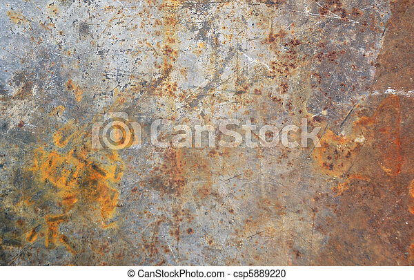 Rusty steel background - csp5889220