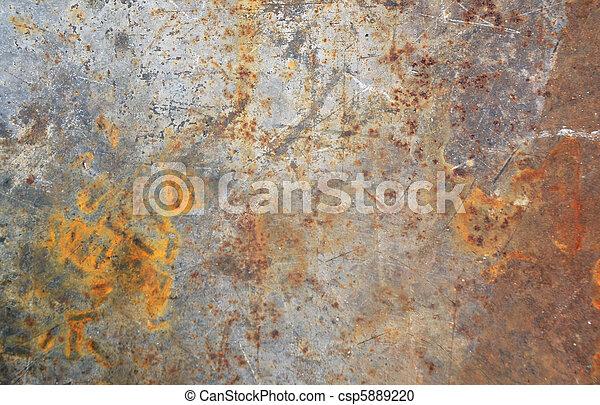 Rusty steel background - csp5889220