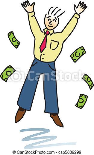 Successful Happy Man - csp5889299