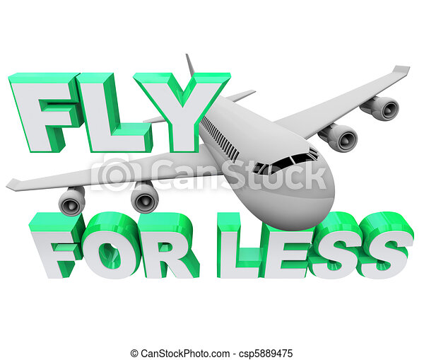 Fly for Less - Save When Booking Air Flight Travel - csp5889475