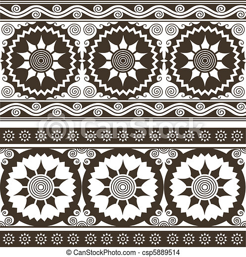 repeated circular floral background - csp5889514