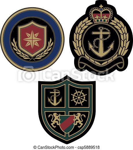 claissic royal badge with sail and  - csp5889518