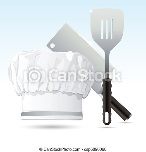 Chef Hat with Cooking Tools - csp5890060