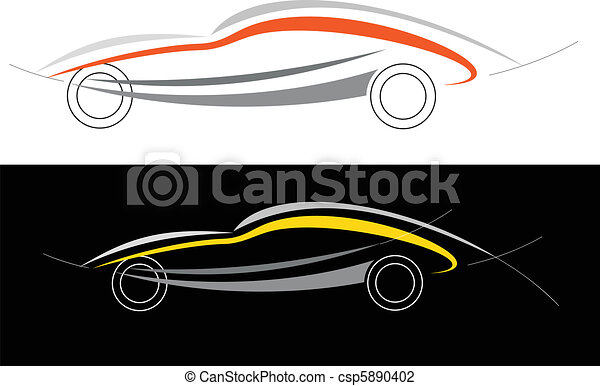 illustration vecteur de voiture sport logo modern voiture can tre utilis. Black Bedroom Furniture Sets. Home Design Ideas