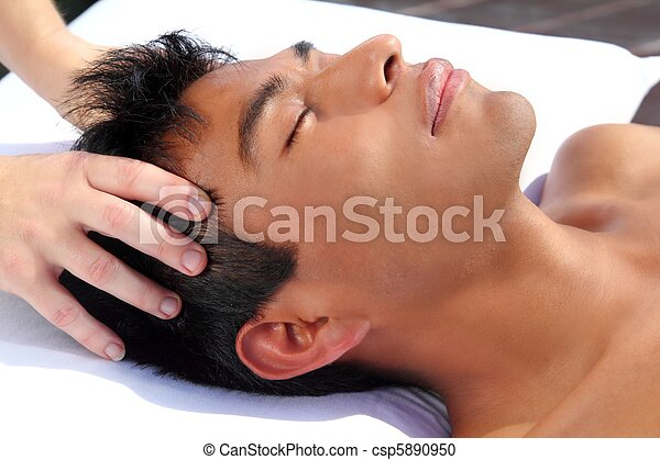 chakras head massage ancient Maya therapy - csp5890950