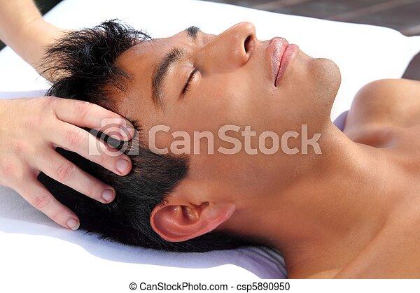chakras head massage ancient Maya therapy - csp5890950