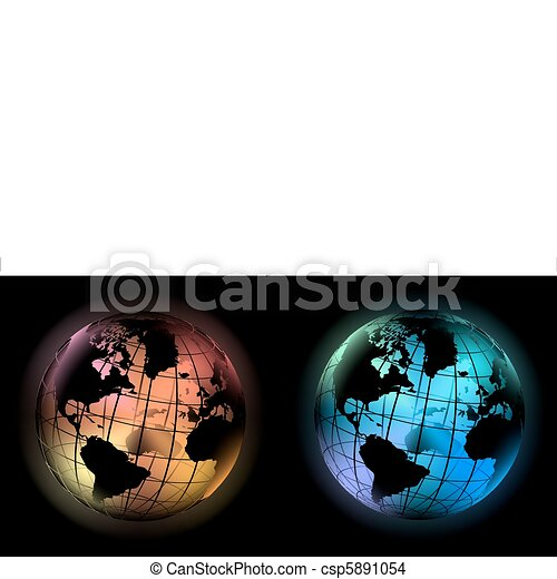 glowing globes - csp5891054