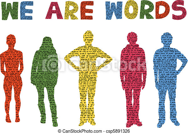 we are words - csp5891326